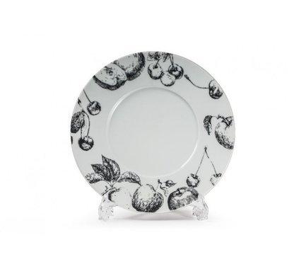 Фото - Тарелка Black Apple, широкий борт, 31 см 830631 2241 Tunisie Porcelaine блюдо black apple 40 см 550640 2241 tunisie porcelaine