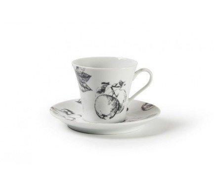Фото - Кофейная пара Black Apple (100 мл) 733510 2241 Tunisie Porcelaine кофейная пара tiffany or 110 мл 6103510 1785 tunisie porcelaine