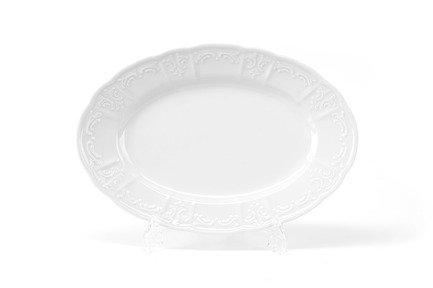 Тарелка овальная Didon, 33.5х22 см 091233 Tunisie Porcelaine сливочник didon 30 мл 4х3 см 093003 tunisie porcelaine