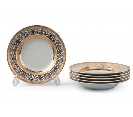 Набор тарелок глубоких Mimosa Didon Or, 22 см, 6 шт. 539124 1645 Tunisie Porcelaine цена 2017