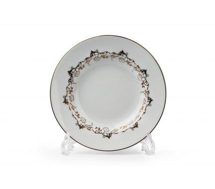 Набор тарелок глубоких Mimosa Lierre Or, 22 см, 6 шт. 539124 947 Tunisie Porcelaine набор тарелок 19 см фредерика роза перламутр 6 шт