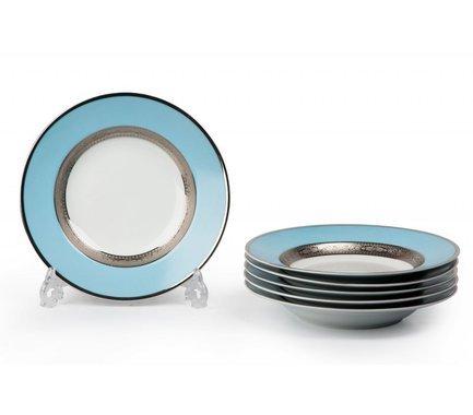 Набор тарелок глубоких Monaco Blue Turquoise, 22 см, 6 шт. 539124 1626 Tunisie Porcelaine цена 2017