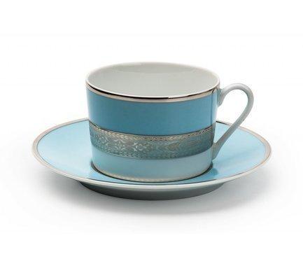 Набор чайных пар Mimosa Monaco Blue Turquoise (220 мл), 12 пр 539506 1626 Tunisie Porcelaine бра britop rogna 8820104