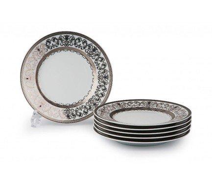 Фото - Набор тарелок Mimosa Prague Platine, 22 см, 6 шт. 539117 1647 Tunisie Porcelaine набор тарелок лунтик 6 шт