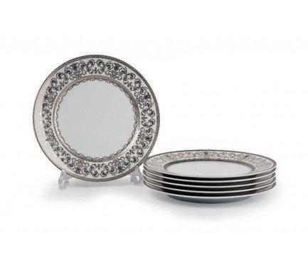 Фото - Набор тарелок Mimosa Prague Platine, 27 см, 6 шт. 539116 1647 Tunisie Porcelaine набор тарелок лунтик 6 шт