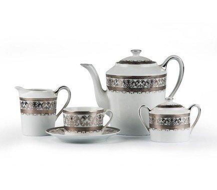 Сервиз чайный Mimosa Prague Platine, 15 пр. 539509 1647 Tunisie Porcelaine
