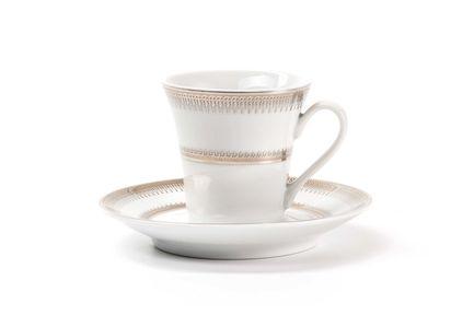 Чайное блюдце Princier Platine, 17 см 733417 1801 Tunisie Porcelaine