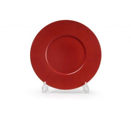 Блюдо круглое Putoisage Rouge, 31 см 830631 3067 Tunisie Porcelaine