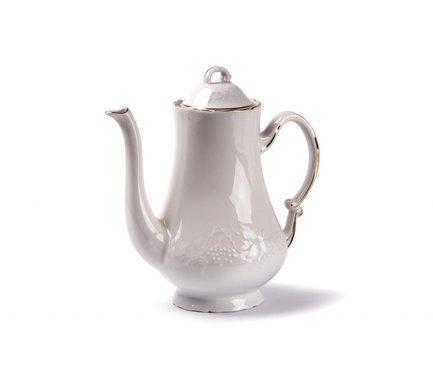 Кофейник Vendange Filet Or (1.3 л) 692913 1009 Tunisie Porcelaine чайник vendange 1 л 693110 tunisie porcelaine