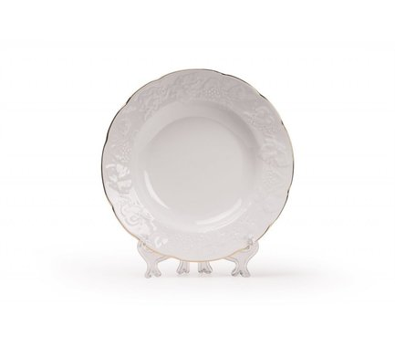 Тарелка глубокая Vendange Filet Or, 22 см 690222 1009 Tunisie Porcelaine стоимость