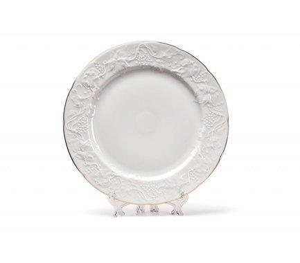 Тарелка десертная Vendange Filet Or, 21 см 690121 1009 Tunisie Porcelaine