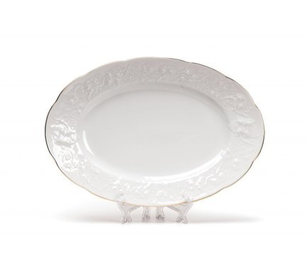 Блюдо овальное Vendange Filet Or, 36 см 691236 1009 Tunisie Porcelaine чайник vendange 1 л 693110 tunisie porcelaine