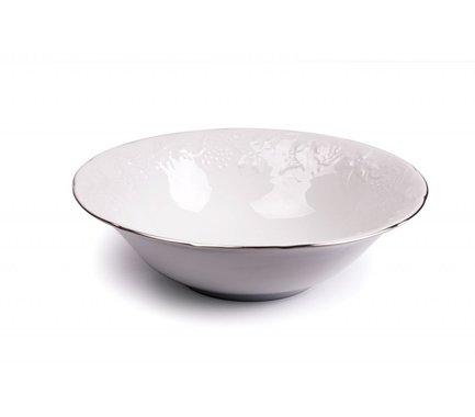 Салатник Vendange Filet Platine, 25 см 691625 0019 Tunisie Porcelaine чайник vendange filet platine 1 л 693110 0019 tunisie porcelaine