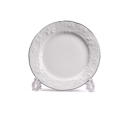 Тарелка обеденная Vendange Filet Platine, 26 см 690126 0019 Tunisie Porcelaine