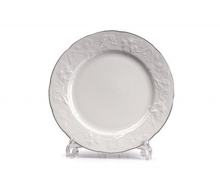 Тарелка десертная Vendange Filet Platine, 21 см 690121 0019 Tunisie Porcelaine