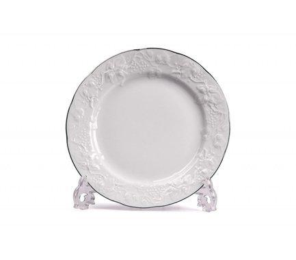 Тарелка пирожковая Vendange Filet Platine, 16 см 690116 0019 Tunisie Porcelaine шпажка для оливок 16 см олива05 tunisie porcelaine