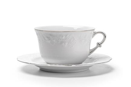 Чайная пара Vendange Filet Platine (340 мл) 693534 0019 Tunisie Porcelaine чайник vendange filet platine 1 л 693110 0019 tunisie porcelaine