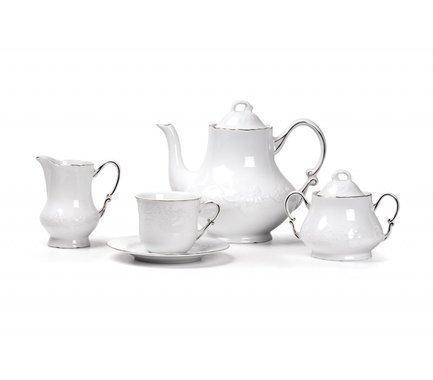 Сервиз чайный Vendange Filet Platine, 15 пр 699509 0019 Tunisie Porcelaine
