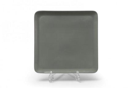 Тарелка квадратная Yaka Gris, 25х25 см 880325 3064 Tunisie Porcelaine салатник yaka 25 см 881625 tunisie porcelaine