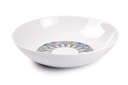 Фото - Тарелка глубокая Lys Восточный декор, 21 см 550221 2094 Tunisie Porcelaine тарелка глубокая 21 см la rose des sables тарелка глубокая 21 см