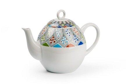 Чайник Monalisa Восточный декор (1 л) 553110 2094 Tunisie Porcelaine чайник vendange 1 л 693110 tunisie porcelaine