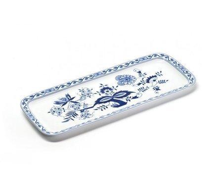Блюдо для кекса прямоугольное Ognion Bleu, 37.7х15.5 см 610837 1313 Tunisie Porcelaine блюдо для запекания porcelaine a feu 1 л 20х13 5х4 см 004020 tunisie porcelaine