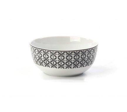 Салатник Черный Ажур, 13 см 553913 2300 Tunisie Porcelaine