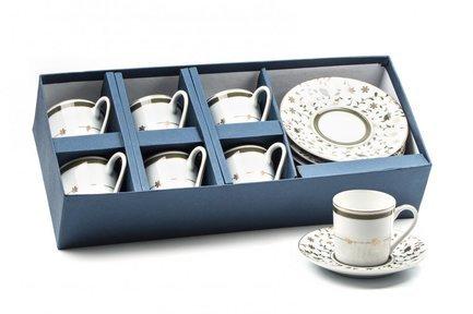 Набор кофейных пар, 12 пр 539012 1695 Tunisie Porcelaine набор кофейных 6 пар carlsbad
