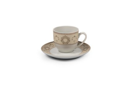 Фото - Кофейная пара Riad Or (110 мл) 6103510 1853 Tunisie Porcelaine кофейная пара tiffany or 110 мл 6103510 1785 tunisie porcelaine