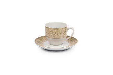 Фото - Кофейная пара Tiffany Or (110 мл) 6103510 1785 Tunisie Porcelaine кофейная пара tiffany or 110 мл 6103510 1785 tunisie porcelaine
