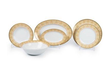 Сервиз столовый Tiffany Or, 21 пр 5309335 1785 Tunisie Porcelaine