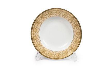 Тарелка глубокая Tiffany Or, 22 см 5300222 1785 Tunisie Porcelaine тарелка десертная tiffany or 22 см 5300122 1785 tunisie porcelaine