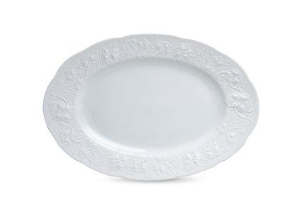 Фото - Блюдо овальное Vendange Mat Blanc, 36 см 3101236 Tunisie Porcelaine блюдо овальное 36 см falkenporzellan блюдо овальное 36 см