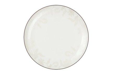 Тарелка плоская Белый лотос, 25 см 00000069448 Royal Aurel royal aurel тарелка плоская шарм 23 5 см 552r royal aurel