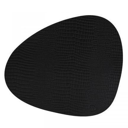 Подстановочная салфетка фигурная, 37x44 см, черная 98890 Lind Dna