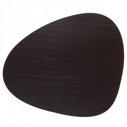 Подстановочная салфетка фигурная, 37x44 см, коричневая 98891 Lind Dna