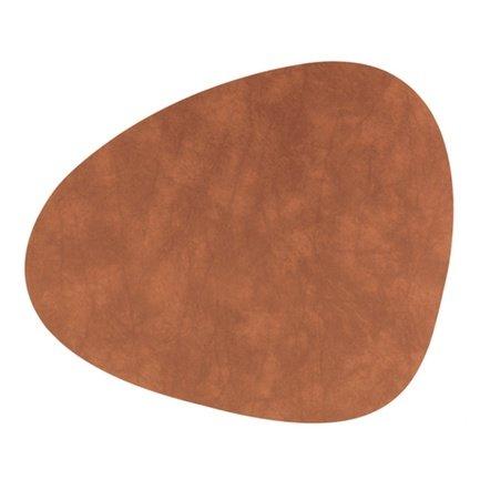 Подстановочная салфетка фигурная, 37x44 см, коричневая 98892 Lind Dna