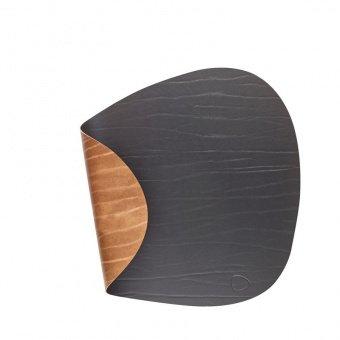 Подстановочная салфетка фигурная, 37x44 см, черная/коричневая 982191 Lind Dna