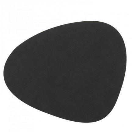 Подстановочная салфетка фигурная, 37x44 см, черная 981900 Lind Dna