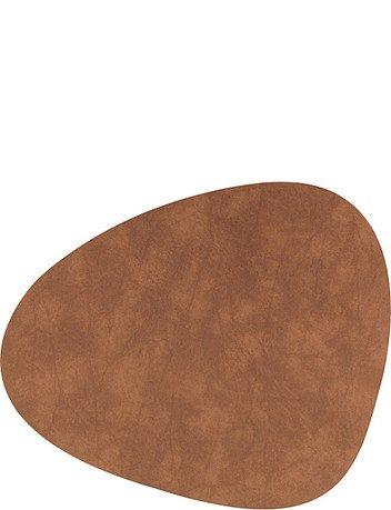 Подстановочная салфетка фигурная, 37x44 см, коричневая 982473 Lind Dna