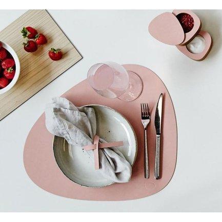 Подстановочная салфетка фигурная, 37x44 см, розовая 98283 Lind Dna