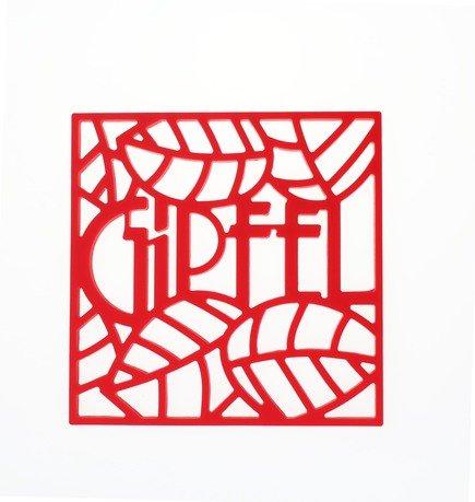 Подставка под горячее Glum, 17х17х0.8 см, красная 0214 Gipfel подставка под горячее glum gipfel 0212