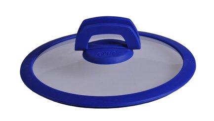 Крышка стеклянная Smart с силиконовой синей ручкой, 32 см 1024 Gipfel