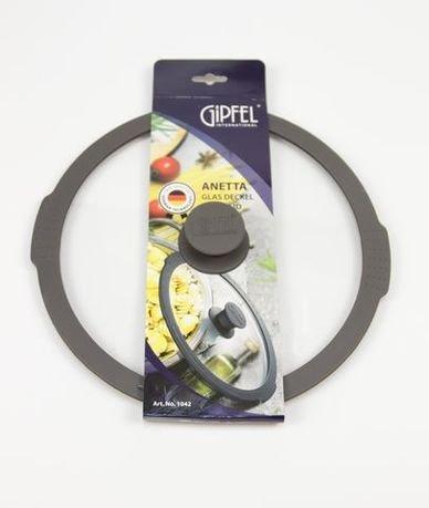 Крышка стеклянная Anetta с силиконовым ободом и ручкой, 26 см 1042 Gipfel крышка стеклянная anetta с силиконовым ободом и ручкой 20 см 1040 gipfel