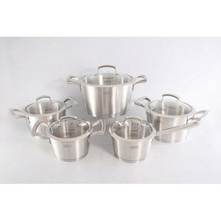 Набор посуды Genesis с капсульным дном, 10 пр. 1537 Gipfel контейнер с прозрачной крышкой 1 4 л 11х17 5 см 126208 brabantia