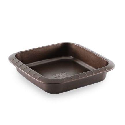Форма для выпечки Chocolate квадратная с антипригарным покрытием, 25x24х5 см 1837 Gipfel форма для выпечки жаклин круг 2803204 с антипригарным покрытием 28 ячеек 40 7 х 28 5 х 3 см