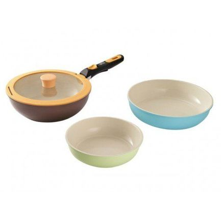 Набор сковород Trigemini с керамическим покрытием, 24 см, 5 пр. 2481 Gipfel сковорода d 24 см kukmara кофейный мрамор смки240а