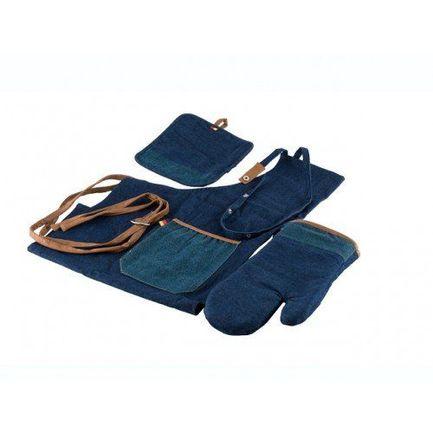 Комплект кухонного текстиля фартук, рукавица, прихватка, 3 пр. 2709 Gipfel