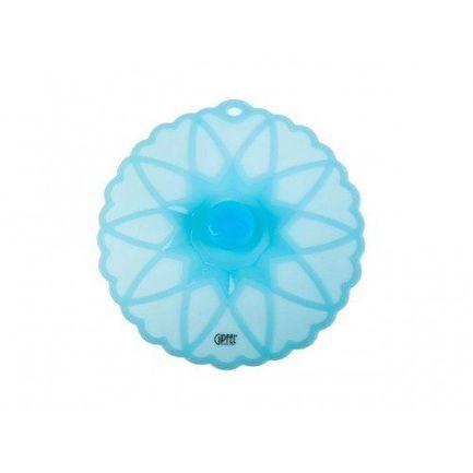 Крышка силиконовая жаростойкая, 23.5х23х2.8 см, синяя 2857 Gipfel