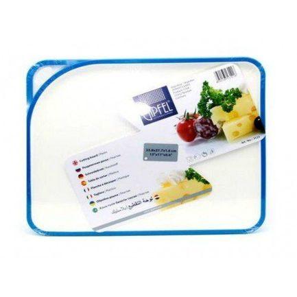 Доска разделочная пластмассовая Acrux, 33.8х27.7х1.6 см, голубая 3121 Gipfel доска разделочная gipfel 3237 rowland 33х20см